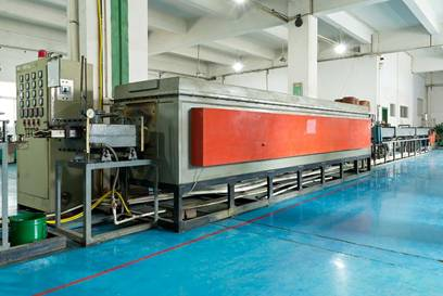 Gas protected bright annealing furnace